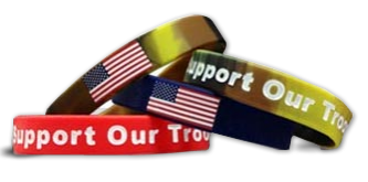letu0027s be friends - Support Our Troops Silicone Bracelet